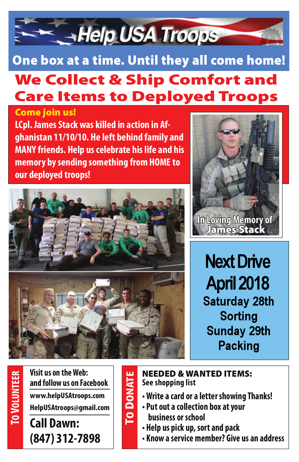 Supporting Our Troops One Box at a Time!